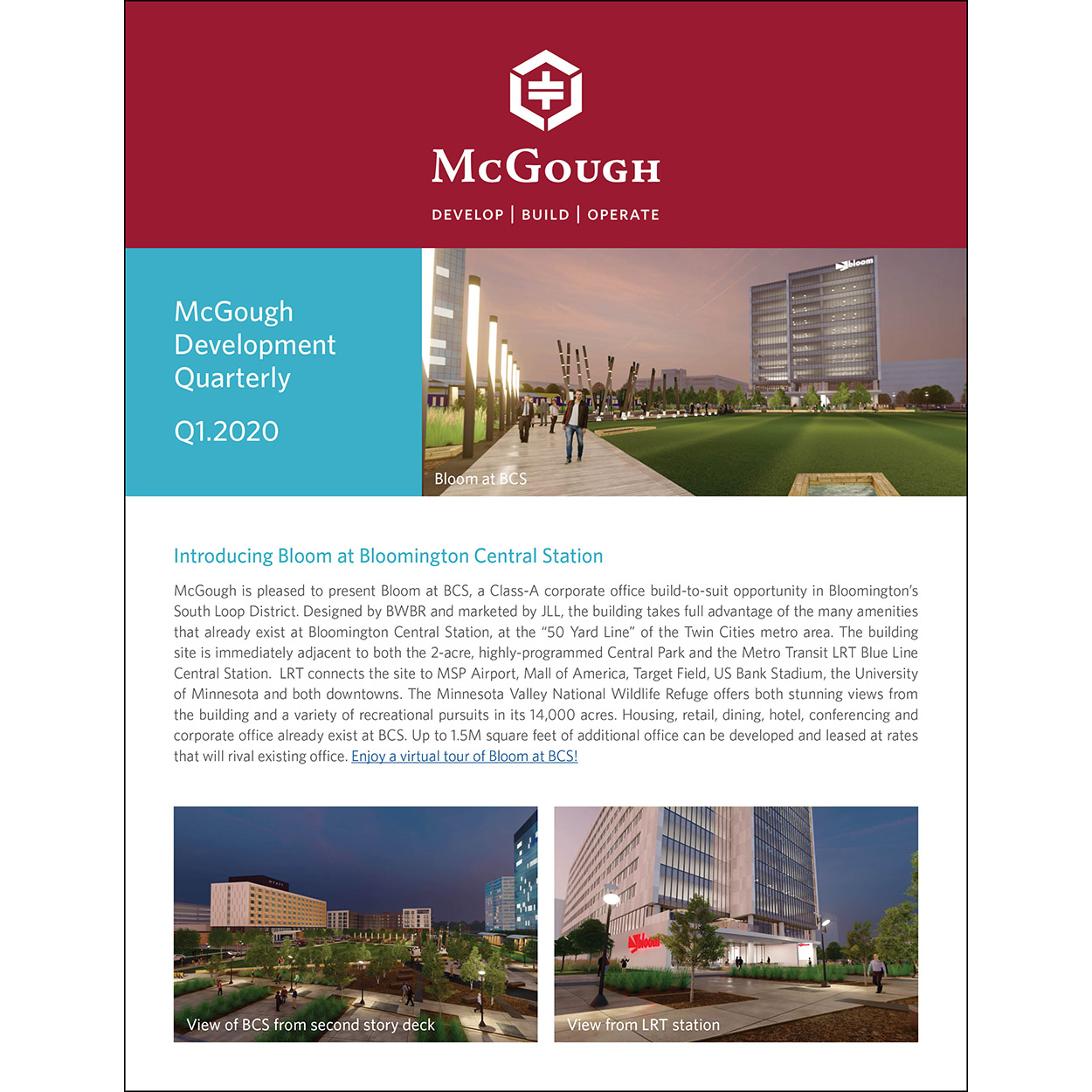 McGough Development Quarterly Newsletter Q1 2020
