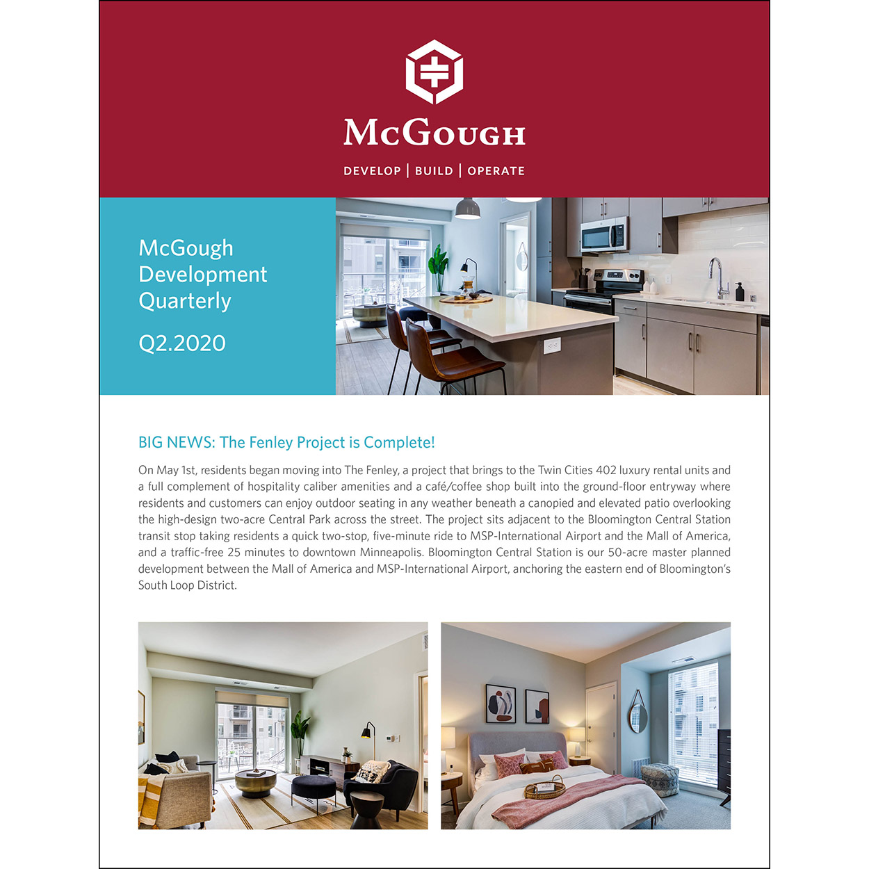 McGough Development Quarterly Newsletter Q2 2020
